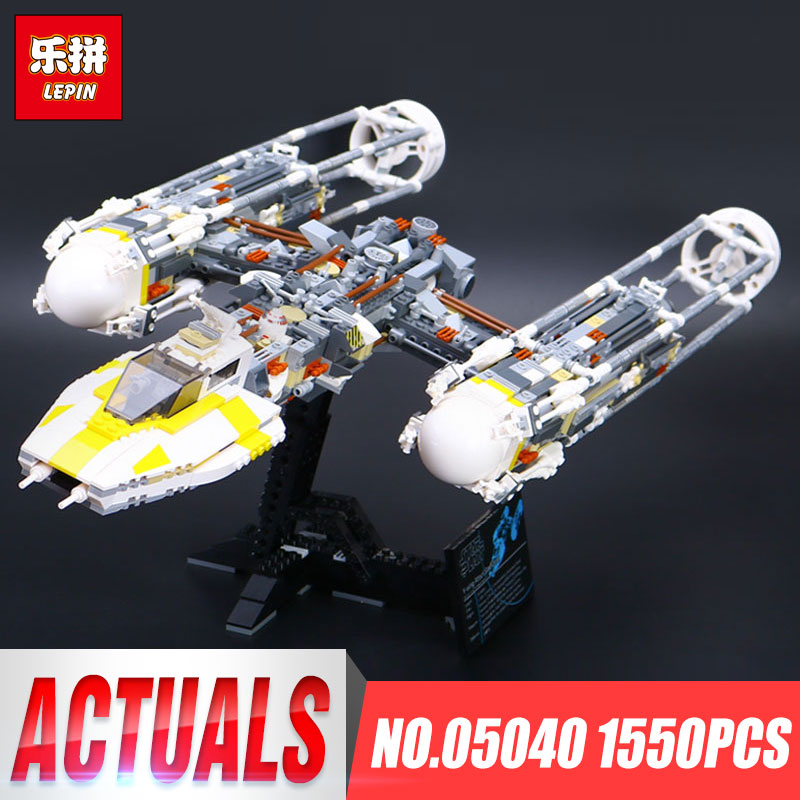 Lepin 05040 Star Series Wars Y Star wing Attack fighter Building Assembled Block Brick DIY Toy Educational Gift Compatible 10134 lepin 05040 star wars y wing attack starfighter model building kits blocks brick toys compatiable with lego kid gift set