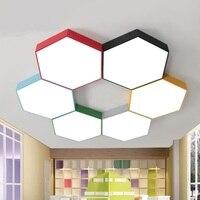 Kinder lampe deckenleuchten multi color kreative LED Kreative Farbe honeycomb eine kindergarten kleidung büro lampe ZA ET22-in Deckenleuchten aus Licht & Beleuchtung bei