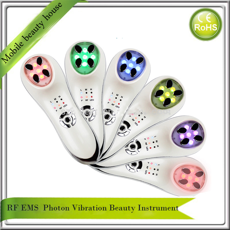 Mini Bipolar RF Skin Renewal System Radio Frequency EMS Bio Microcurrent Face Lifting Tightening Led Photon Beauty Device rechargeable mini rf bipolar led photon light therapy skin tightening facial rejuvenation face lifting beauty skin care device