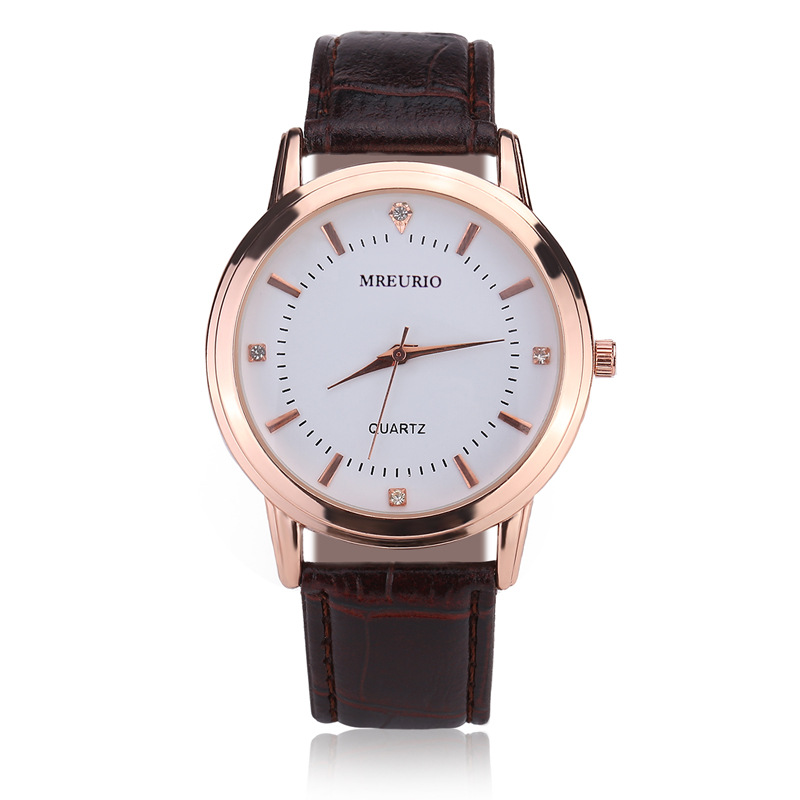Fashion Leather Lover's Watches Simple Elegant Para Watch Brown Waterproof Couple Watches Gifts For Men Women Clock Pareja Pair