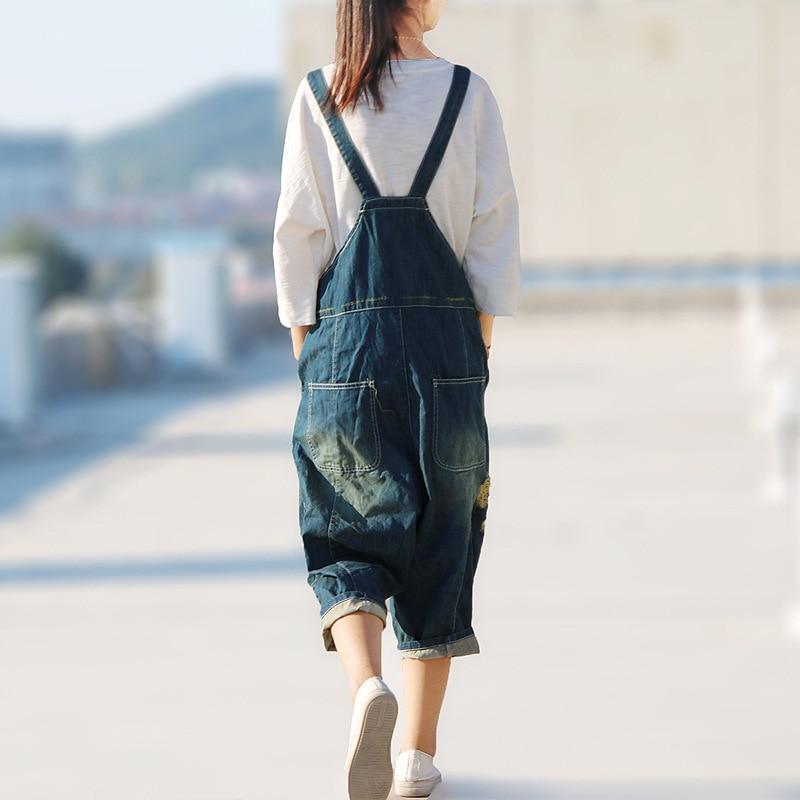 cb3e21fe7e7 Fashion New Plus size Denim Overalls Women Jean Jumpsuit Boyfriend Wide Leg  Jeans Harem Pants on Aliexpress.com