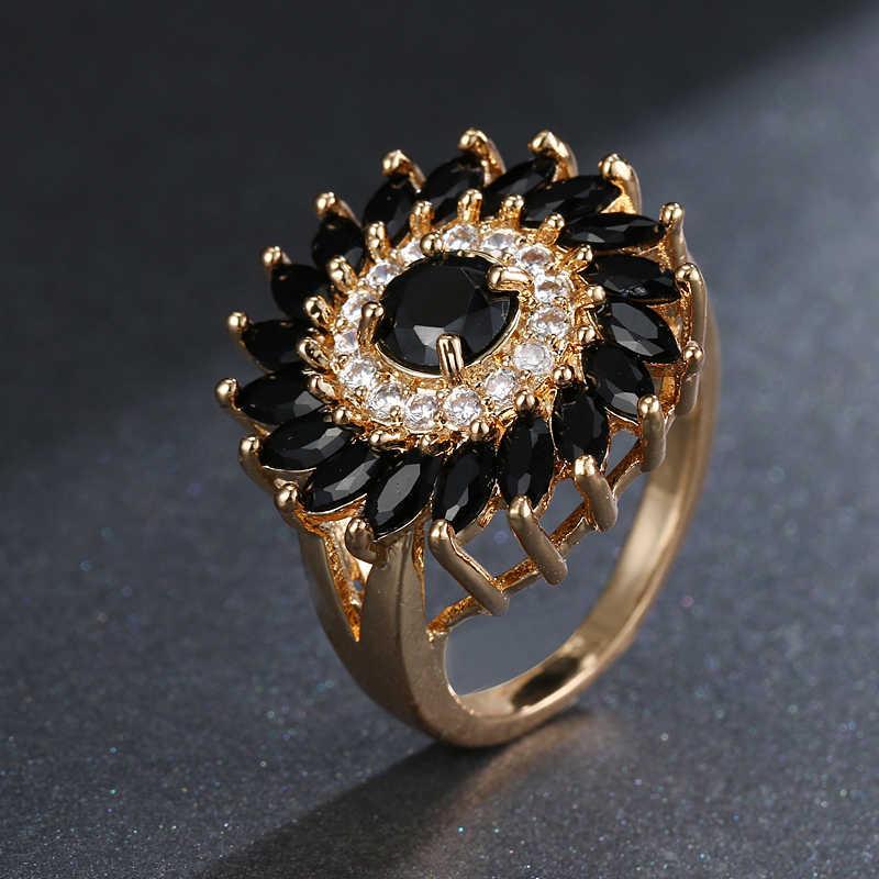 EMMAYA AAA CZแหวนหญิงแหวนBijouxเครื่องประดับของขวัญสีทองanillos mujerที่น่าสนใจCZแหวนสำหรับผู้หญิง