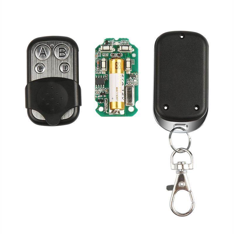433MHz RF Wireless 4-Channel Learning Code(1527) Button Car Key Fob Kit Transmitter Relay Receiver Module Remote Control Switch