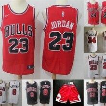b51cf26fce6e Free shipping A+++ Chicago quality Mens Jordan Adult  23 Michael  8 Zach  LaVine 24 Lauri Markkanen  34 Wendell Carter Jr. Jersey
