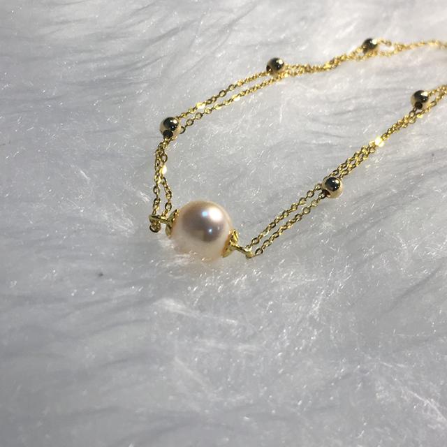 18K Yellow Gold Freshwater Pearl Bracelet