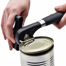 Durable Stainless Steel Manual Can Opener Side Cut with Turn Knob Soft Grips Handle Professional Ergonomic Smooth Edge yooap cans opener household kitchen tools professional manual stainless steel openers with turn knob