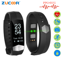 ZUCOOR Smart Bracelet Fitness ECG PPG Pulseira Inteligente RB76 Blood Pressure Tonometers Wristband Pedometer Activity Tracker