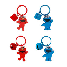 2019 New Hot 1 Pc new Creative Sesame Street Keychain Cartoon Elmo keychain Car Purse Bag Pendant Figure toys for kids gift