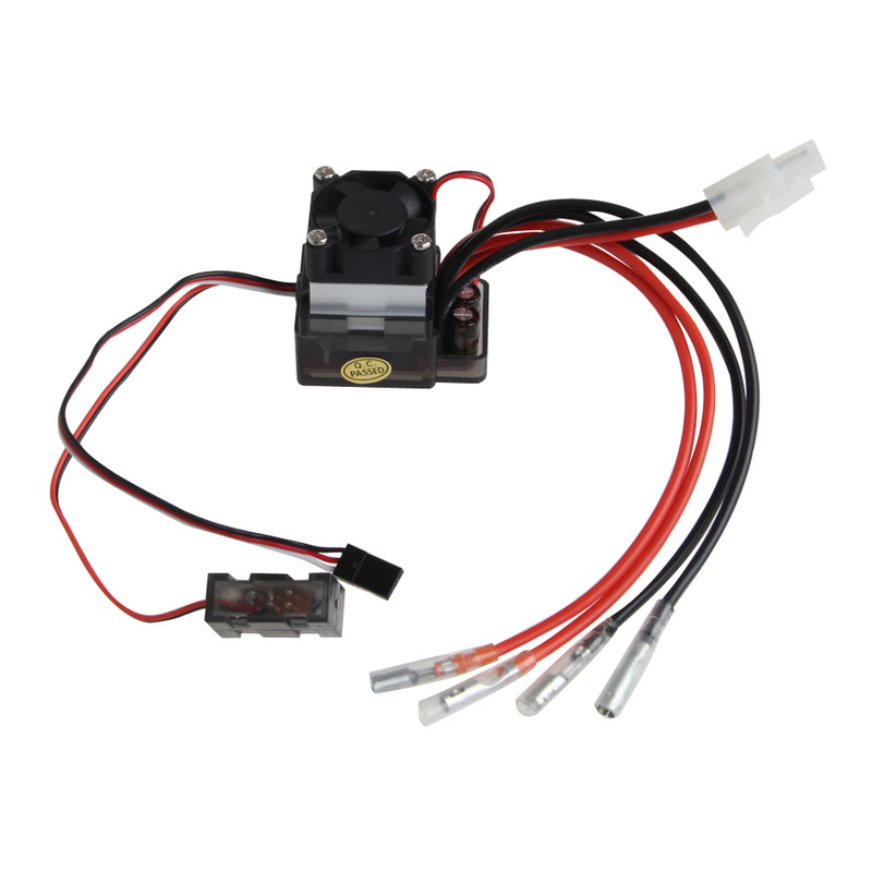 7.2V-16V High Voltage ESC 320A Brushed Speed Controller Fan Fr RC Car Truck Boat %328/319 320a waterproof rc boat esc eletric speed controller for rc crawler car boat regulator spare parts 7 2 16v with fan two motors