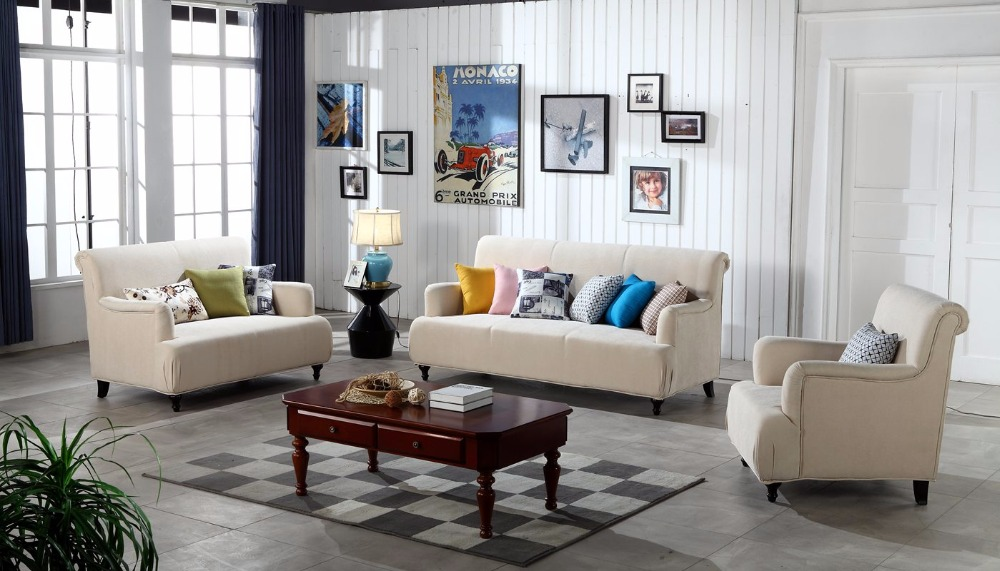 Contemporary Modern Storage Velvet Fabric Sofa Beige Living Room Sofa Set 1 2 3 Made In China In