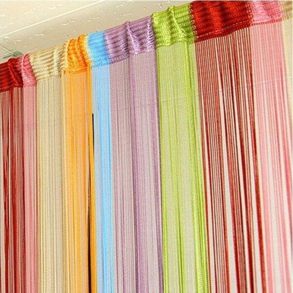 m colores cadena cortina de puerta ventana de la franja de la