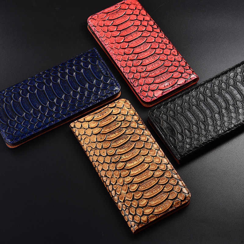 TOP luksusowe etui z klapką stań etui na Lenovo Z5 Z5s Z6 Pro Lite GT pokrywa prawdziwa skóra bydlęca przypadku telefonu