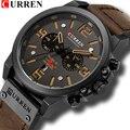 Модные Для мужчин s часы Curren бренд роскошные кожаные кварцевые Для мужчин часы Повседневное Спорт часы мужской Relogio Masculino Прямая доставка