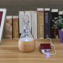 Waterless HEATLESS Bowling Glass Nebulizer Pure Essential Oil Aroma Nebulizing Diffuser Household Home Work Yoga Aromatherapy