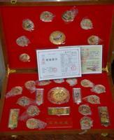 Китайский выпущенный правительством лошадь Год (2014) серебряная монета, 30 шт. (Набор), Цвет медали