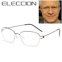 ELECCION 2018 NEW Screwless Eyewear Full Frames Ultralight Air Titanium Rim Eyeglasses Men Optical Glasses Frames Korea Denmark
