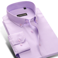 Men S Slim Fit Striped Button Down Collar Dress Shirt Perfect For Smart Casual Fuller Sleeves