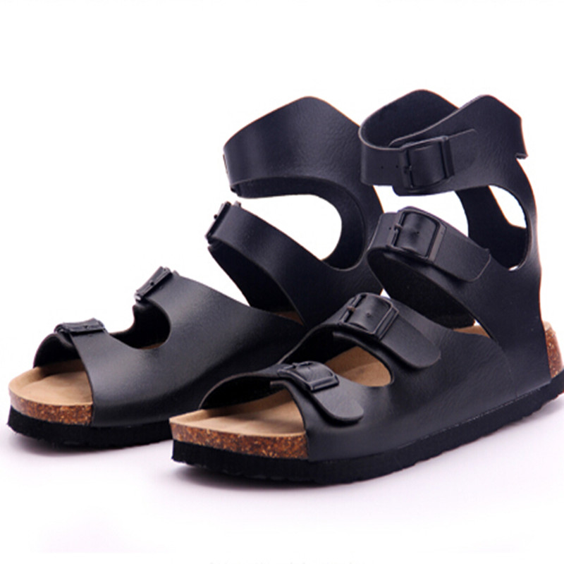 2b7ae2a21c5 Men Ankle Sandals Personality Shoes Beach Shoes Cork Sandals Men Sandals  Ankle Strap Rome Sandals Slides Plus Size 39 43-in Men s Sandals from Shoes  on ...