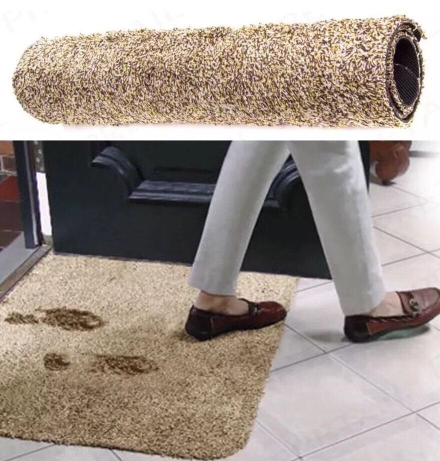 2018 Hot Sell On Amazon Drop Shipping Super Absorbant Magic Door Mat Microfibre Mat Washable Doormat