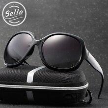 Sella Fashion Ladies Oversize Polarized Sunglasses Classic Simple Cateye Butterfly Sun Glasses Summer Driving UV400