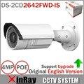 Английская версия IP камера DS-2CD2642FWD-IS 4MP WDR вари - координатор сетевая камера HD 1080 P видео в реальном времени ик-пуля POE камеры видеонаблюдения