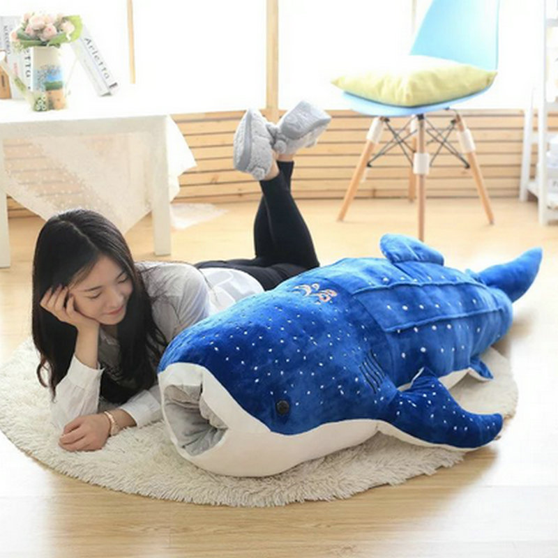 New creativity big size plush toys 50cm 100cm plush shark for Life size shark plush