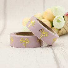 NEW 1X 15mm*10m Red Cupid Bow Foil Washi Tape Wide Note Masking Tape School Office Supplies Paper Tape For DIY Making недорого