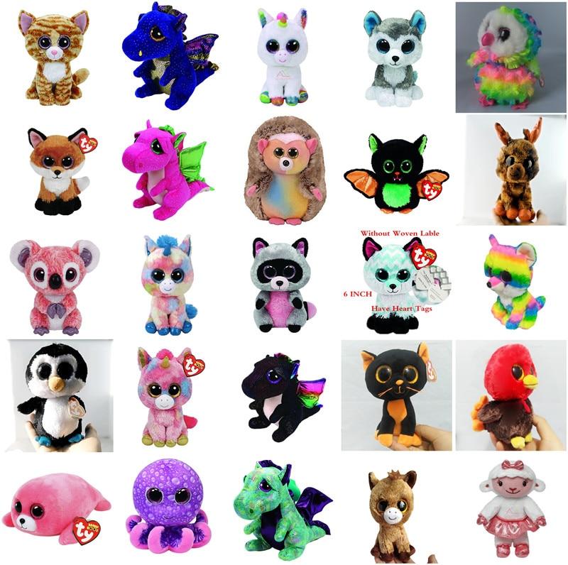 TY Beanie Boos 6 15cm Harmonie the Unicorn Plush Regular Stuffed Animal Collectible Soft Big Eyes Doll Toy ty beanie boos plush animal doll skye zuma rocky the dog soft stuffed toys 6 15cm