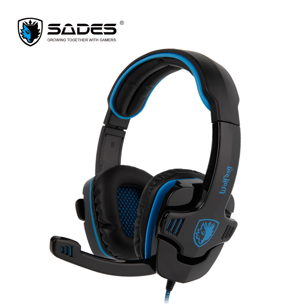 SADES WOLFANG Virtual 7.1 Surround Sound Headphones USB Gaming Headphone Wired Line Control PC Headset for Gamer factory price binmer sades 7 1 surround sound bass headband gaming headset cobra design jy29 drop shipping
