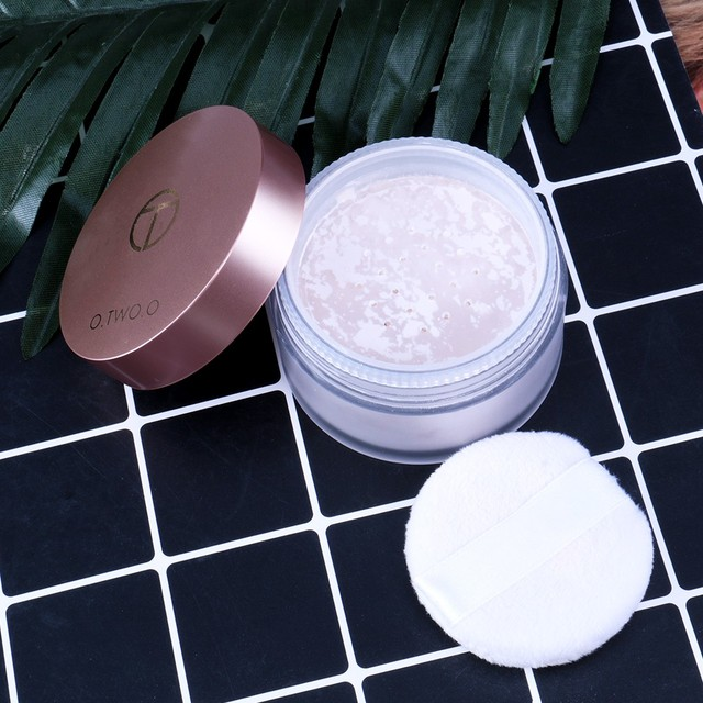 O.TWO.O Smooth Loose Powder Matt Makeup Transparent Finishing Powder Waterproof Cosmetic Puff For Face Finish Setting With Puff 5