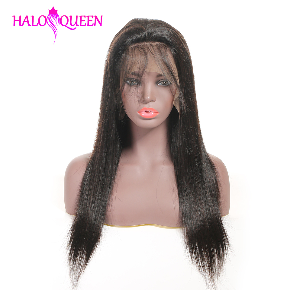 HTB11aOpX7Y2gK0jSZFgq6A5OFXae HALOQUEEN Human Hair Wigs Straight Pre Plucked Hairline Baby Hair 8- 28 Inch Remy Human indian Hair Wigs 13X4 Lace Closure Wigs
