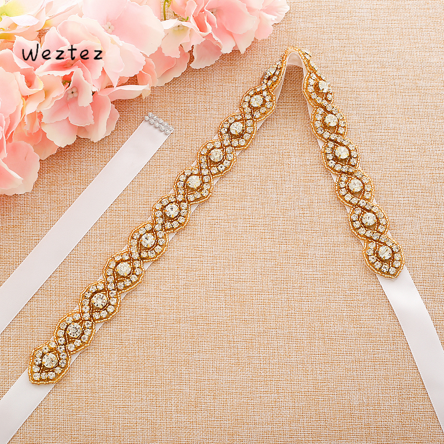 Marriage Bridal Belts Rhinestone Bridal Sash Crystal Wedding Belt Belts For Women Accessories SD108G
