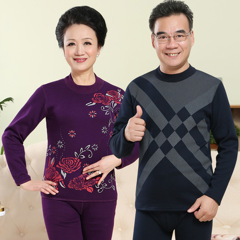 Turtleneck 100 Cotton Thermo Underwear Women Middle Aged Size