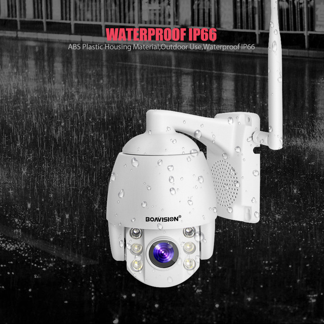 Super Mini 2.5 Inch PTZ Speed Dome WIFI IP Camera 1080P Outdoor 5X Zoom / 4mm Fixed Lens Wireless Camera IR 60m Two Way Audio