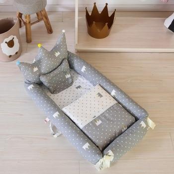 Baby Beddengoed voor Bed Draagbare Baby Matrassen Leuke voor Pasgeboren Wieg Ademend en Slaap Nest met Kussen