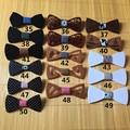 Nueva Moda Hecha A Mano Pajarita pajarita Mariposa Corbata Para Los Hombres de La Joyería De Madera De Madera de Navidad 376 unids envío gratis