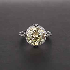Image 4 - OneRain 100% 925 סטרלינג כסף נוצר Moissanite עגול לחתוך חן חתונת אירוסין זהב לבן טבעת תכשיטי מתנה סיטונאי