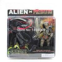 Free Shipping NECA Alien VS Predator Tru Exclusive 2 PACK PVC Action Figure Toy MVFG036