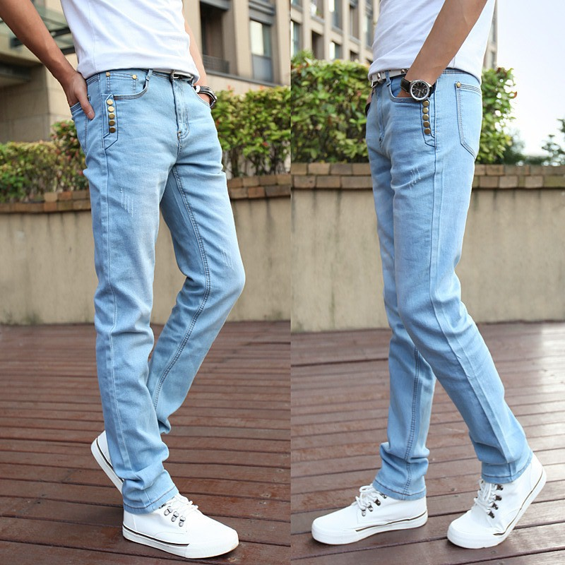 the gallery for gt light blue jeans outfit men