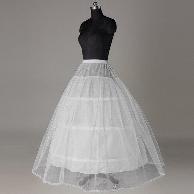 2017 Bridal Marrige Wedding Petticoat 3 Hoop  Elastic Ball Underskirt A-Line Three Ring Crinoline Accessories Wholesale