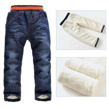 2-7Yrs bébé garçons hiver Jeans pantalons nouvelles 2015 enfants au chaud coton pantalons enfants enfants Jeans de mode hiver pantalons pour garçons