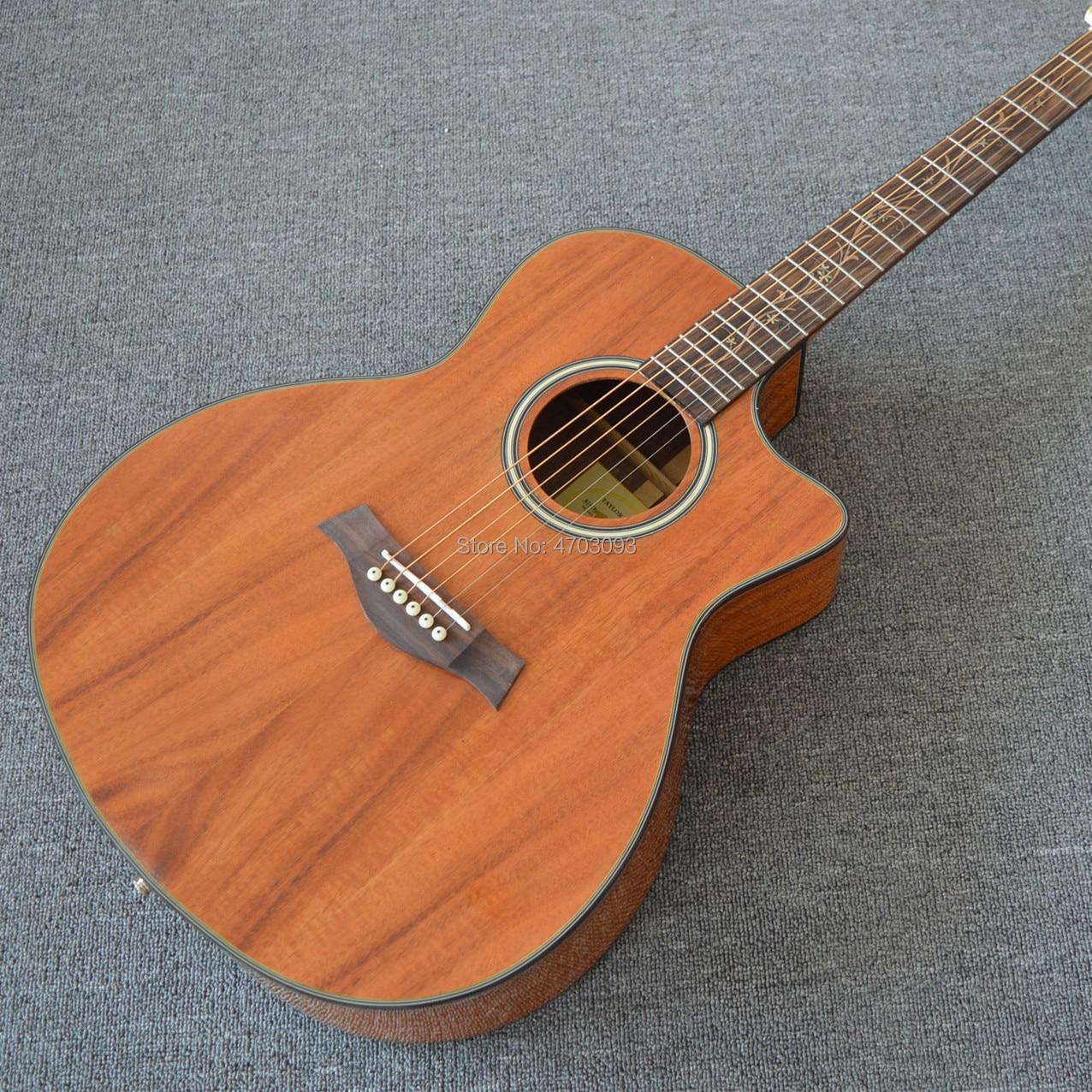 2019 nouvelle guitare acoustique Chaylor 41 pouces Cutaway 6 cordes, plateau en bois koa massif, livraison gratuite