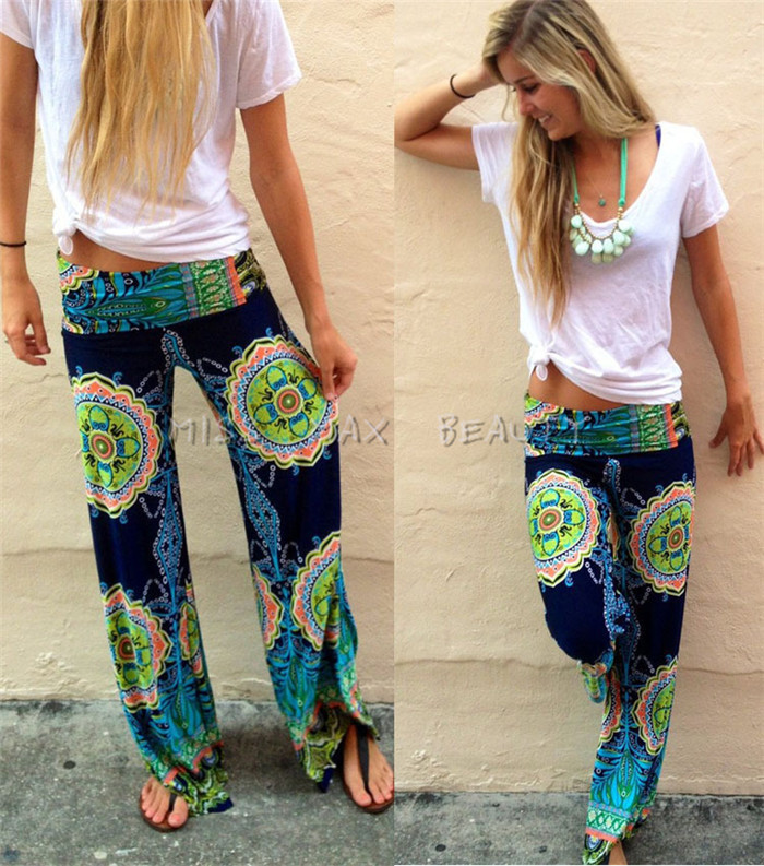 Aliexpress.com : Buy 2015 NEW palazoo trousers Aztec pants ...