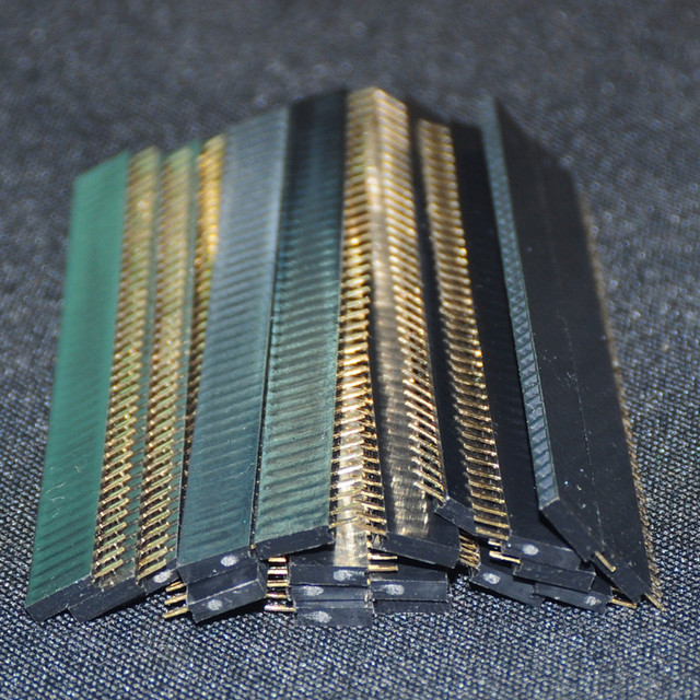 20pcs Single Female Pin Header Case For Arduino 1x40 Row Straight Connector Strip 2.54mm Connectors 40 Pins Header Board Modules