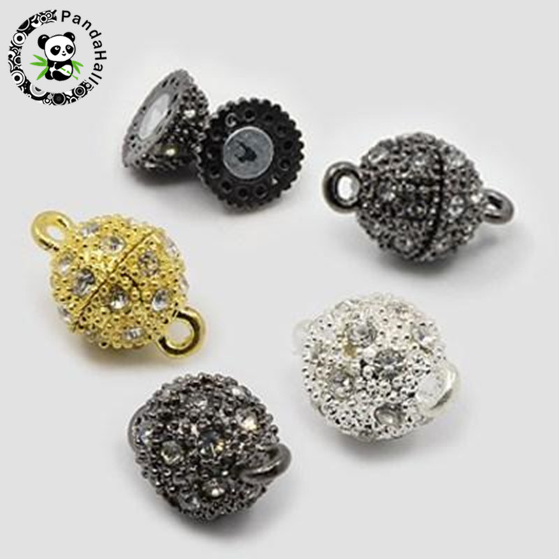 50-sets-oval-alloy-rhinestone-magnetic-clasps-jewelry-findings-silver-golden-black-16x10mm-hole-font