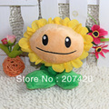 free shipping cute child gift plant vs zombies sunflower plush toys,16cm/6.2inch,1pc/pack