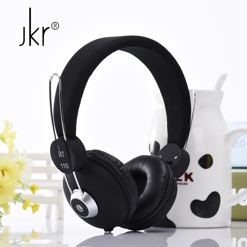 jkr hifi big casque audio wired earphones for phone computer player headset headphone head. Black Bedroom Furniture Sets. Home Design Ideas