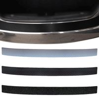 Car Styling Rear Bumper Protector Rear Door Sill For Mitsubishi Ourlander Pajero 1Pc 4D Carbon Fibre