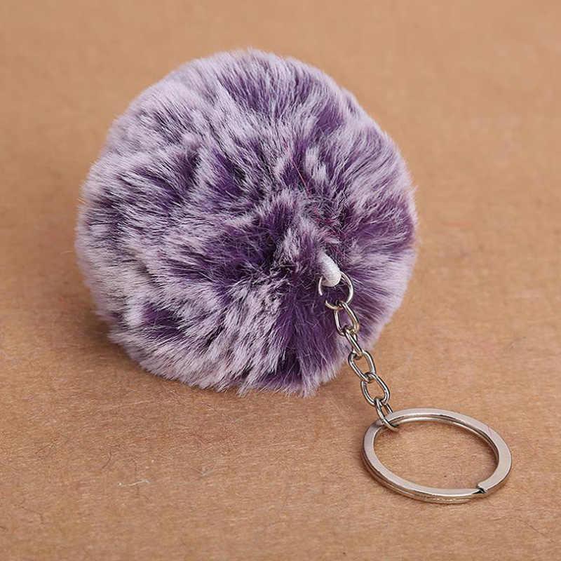 Chaveiro Bola de Pêlo de Coelho Fofo Falso Pom Pom Keychain Bonito Encantos Pompom Saco de Presentes para As Mulheres Carro Chaveiro Acessórios Anel Chave