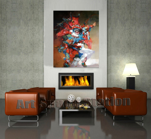 Original Abstract Art Chinese peking opera picture oil painting printing on canvas opera photo <font><b>Asian</b></font> wall art <font><b>home</b></font> office <font><b>decors</b></font>